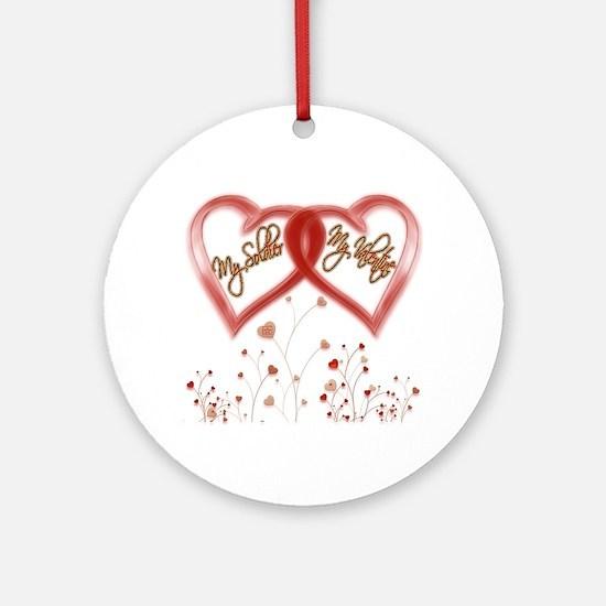 My Soldier, My Valentine Ornament (Round)