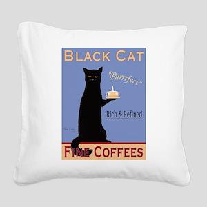 Black Cat Fine Coffees Square Canvas Pillow