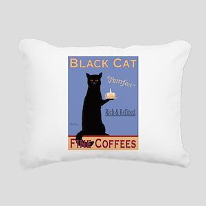 Black Cat Fine Coffees Rectangular Canvas Pillow