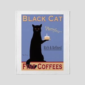 Black Cat Fine Coffees Throw Blanket