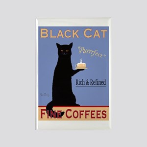 Black Cat Fine Coffees Rectangle Magnet