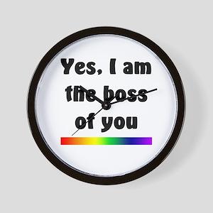 Yes I am the boss Wall Clock