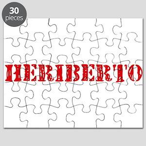 Heriberto Rustic Stencil Design Puzzle