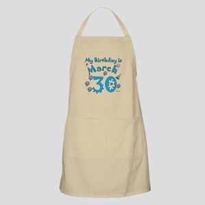 March 30th Birthday BBQ Apron