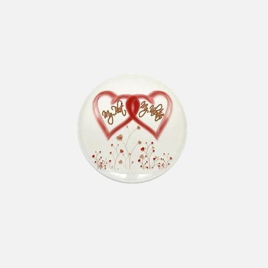 My Pilot, My Valentine Mini Button