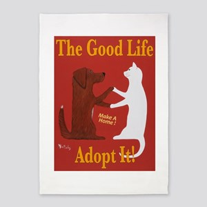 The Good Life - Adopt It 5'x7'Area Rug
