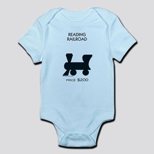 Monopoly - Reading Railroad Baby Light Bodysuit