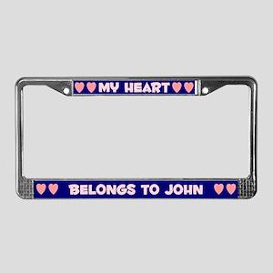 My Heart: John (#008) License Plate Frame