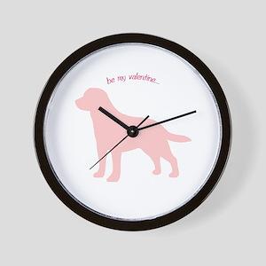 Labrador Retriever... Be My Valentine Wall Clock