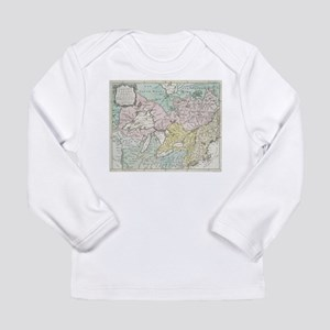 Vintage Map of Great Lakes & C Long Sleeve T-Shirt
