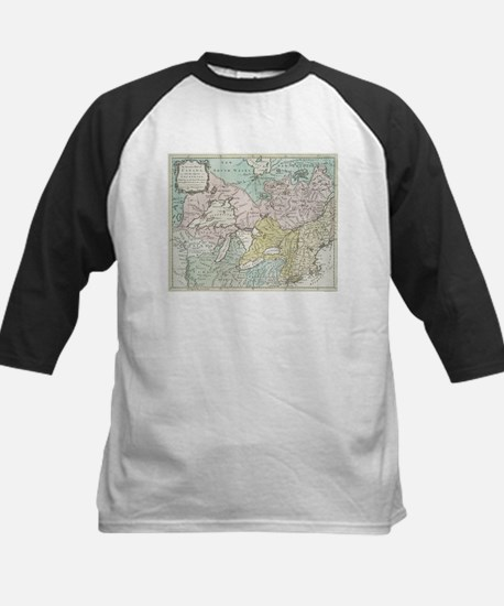 Vintage Map of Great Lakes & Canad Baseball Jersey