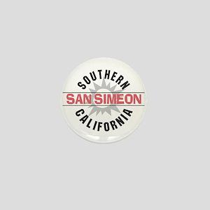 San Simeon California Mini Button