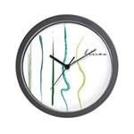 green lines art Wall Clock