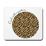 circle with a leopard patterns Mousepad