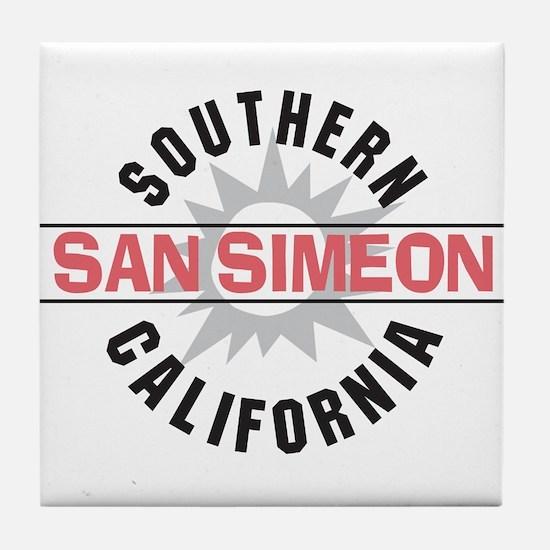 San Simeon California Tile Coaster