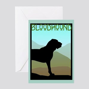 Craftsman Bloodhound Greeting Card