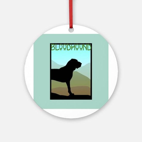 Craftsman Bloodhound Ornament (Round)
