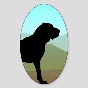 Craftsman Bloodhound Oval Sticker