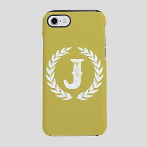 Mustard Yellow Monogram: Let iPhone 8/7 Tough Case