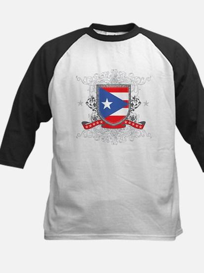 Puerto Rico Shield Kids Baseball Jersey
