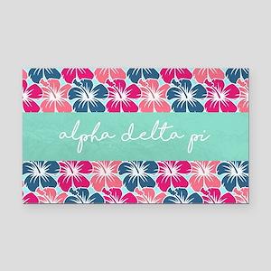 Alpha Delta Pi Flower FB Rectangle Car Magnet