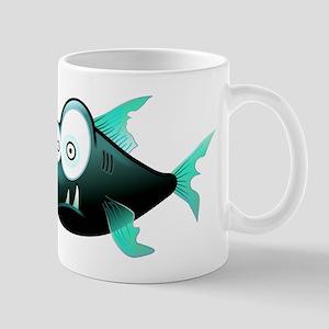 Funny Cute Piranha Fish Mugs