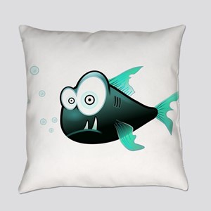 Funny Cute Piranha Fish Everyday Pillow