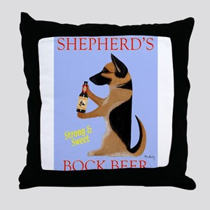 Shepherd's Bock Beer Throw Pillow