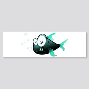 Funny Cute Piranha Fish Bumper Sticker