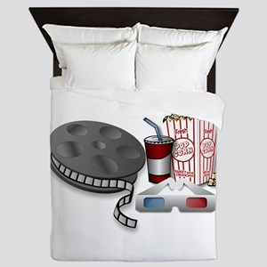 3D Cinema Movie Popcorn Queen Duvet