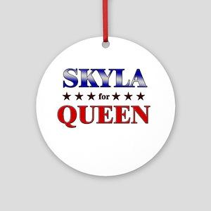 SKYLA for queen Ornament (Round)