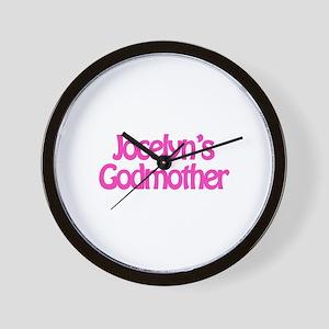 Jocelyn's Godmother Wall Clock