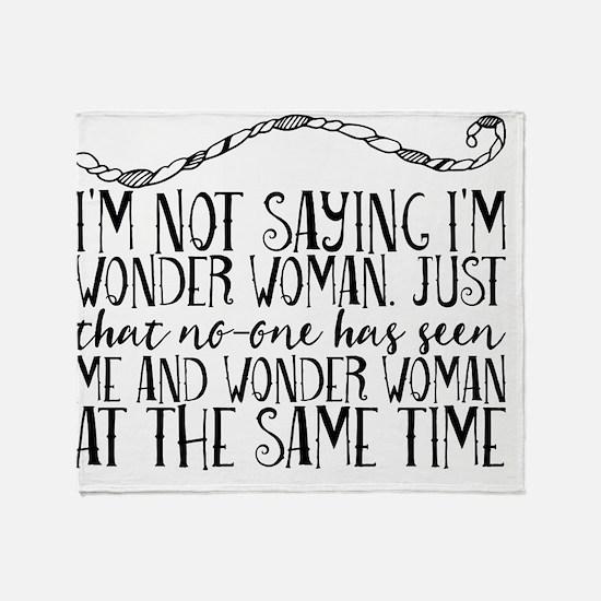 Cool Wonder woman Throw Blanket