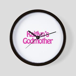 Kaitlyn's Godmother Wall Clock