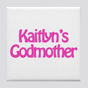 Kaitlyn's Godmother Tile Coaster