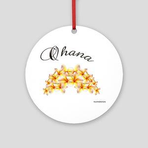 """OHANA~PLUMERIA"" Keepsake (Round)"