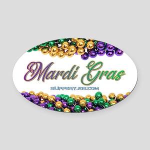 Mardi Gras beads Oval Car Magnet