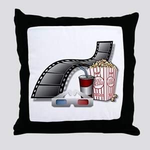 Cool 3D Movie Cinema Throw Pillow