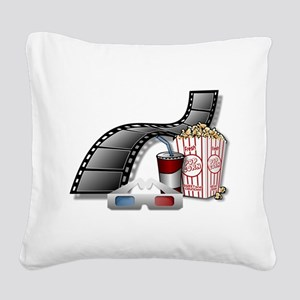 Cool 3D Movie Cinema Square Canvas Pillow