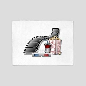 Cool 3D Movie Cinema 5'x7'Area Rug