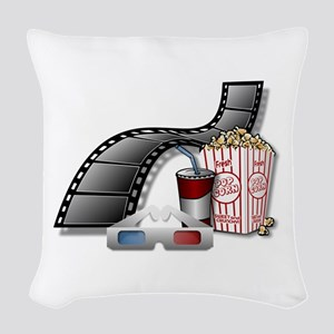 Cool 3D Movie Cinema Woven Throw Pillow