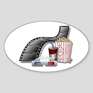 Cool 3D Movie Cinema Sticker