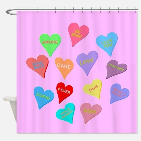 Valentine's Day Candy Shower Curtain