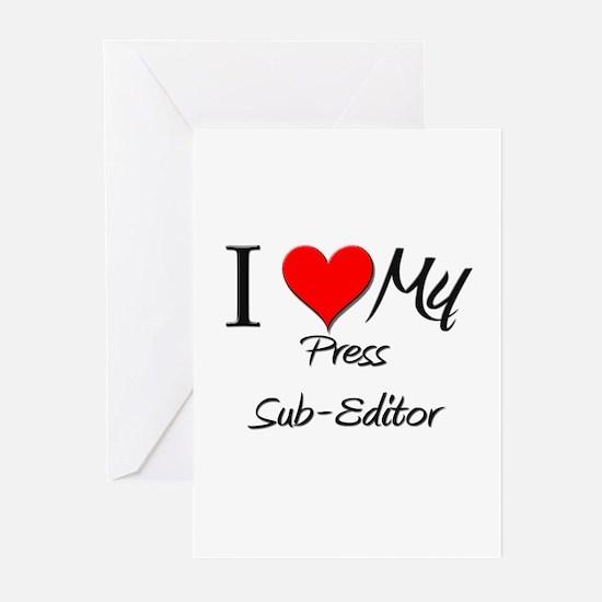 I Heart My Press Sub-Editor Greeting Cards (Pk of