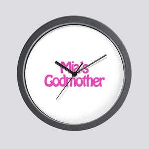 Mia's Godmother Wall Clock