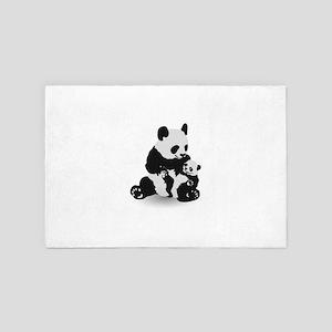 Cute Panda And Baby Panda 4' x 6' Rug