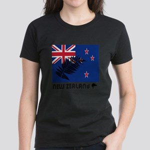 New Zealand Flag Silver Fern T-Shirt
