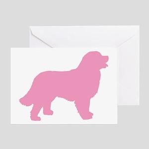 Pink Bernese Mt. Dog Greeting Card