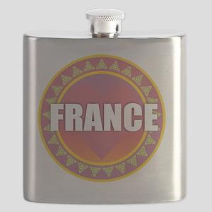 France Sun Heart Flask