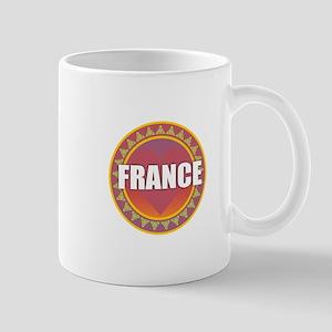 France Sun Heart Mugs